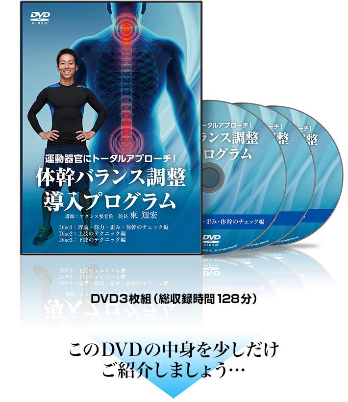 運動器官にトータルアプローチ! 体幹バランス調整導入プログラムDVD