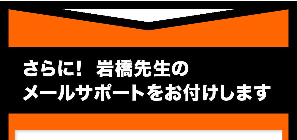 さらに! 岩橋先生のメールサポートをお付けします