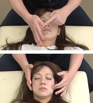 軽く触れるように施術するので、痛みや化粧が崩れの心配がありません