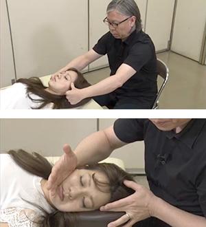 泉尾先生のデモンストレーションを見ながら、わかりやすく小顔矯正が学べます
