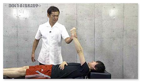 筋肉の機能を検査し、即効のキーポイントを探します