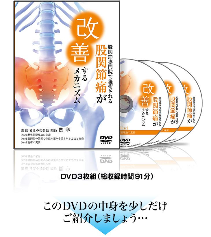 股関節専門院で施術される股関節痛が改善するメカニズムDVD