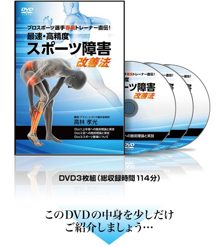 プロスポーツ選手専属トレーナー直伝!最速・高精度スポーツ障害改善法DVD